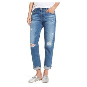AG the Ex-Boyfriend Crop Distressed Jeans
